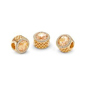 Pandora Jewelry - Gold Radiant Hearts Shine™ & Multi-colored Cz